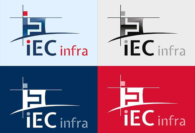 Logo IEC infra - déclinaisons